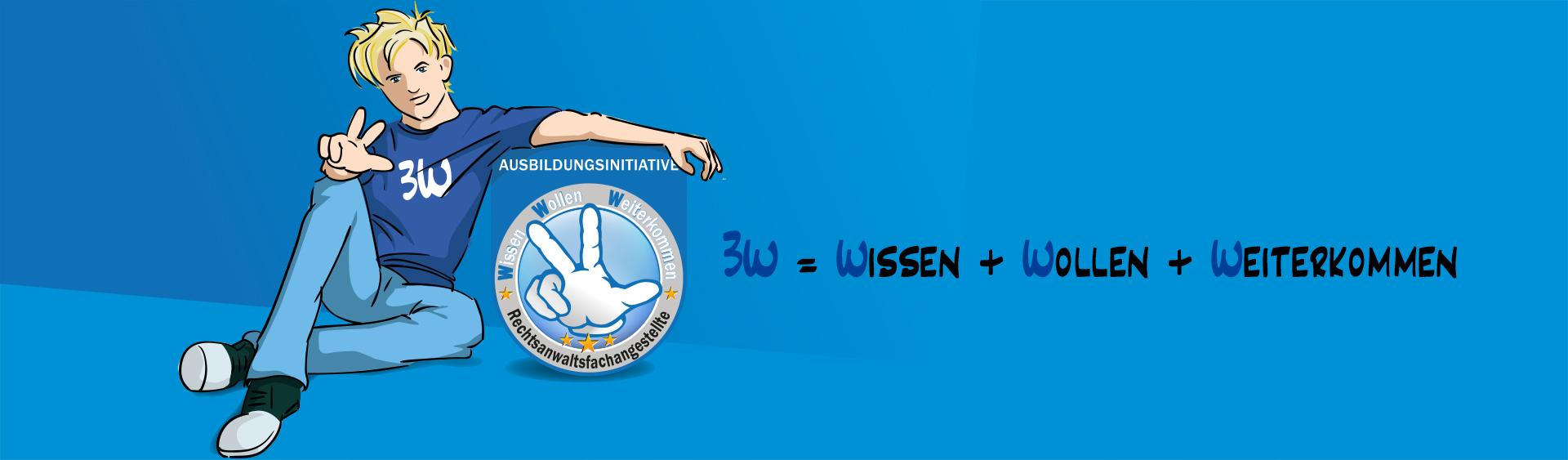 Ausbildungsinitiative: 3W = Wissen + Wollen + Weiterkommen